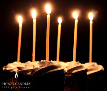 Spice up your Birthday Cake with Honey Candles Galas