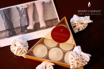 Pure Beeswax Wedding Candles