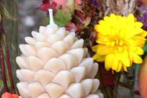 Color Your Beeswax Candles Fall