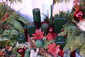 Green Beeswax Candles for Christmas