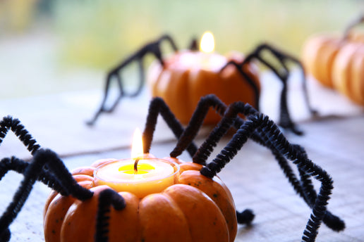 Simple Candle Holder Crafts for Halloween