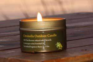 Natural Pure Citronella Outdoor Candle