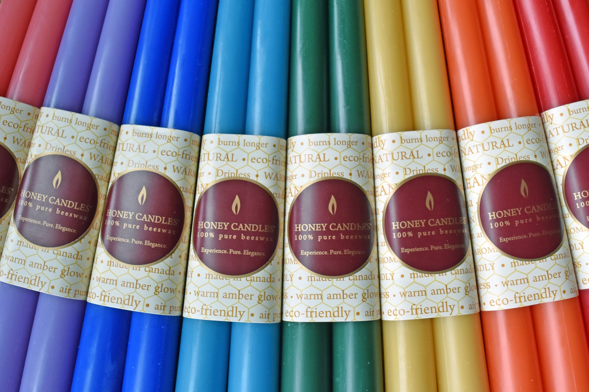 We use Enviro-dyes in our Colored Beeswax Candles
