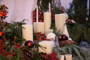 White Beeswax Candles For Christmas