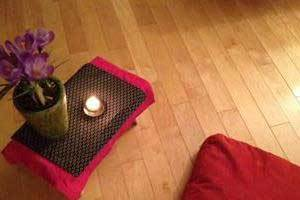 Yoga with Beeswax Candles