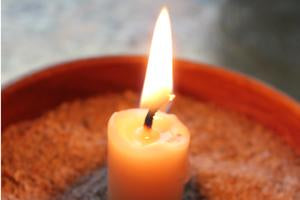 Using Every Last Bit of Your Beeswax Candle