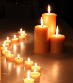beeswax candles and Hygge