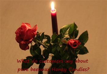 what people say about our beeswax candles