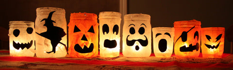 Halloween Craft Candle Holders
