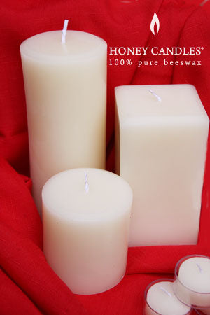 beeswax candles white