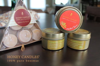 beeswax candles tins