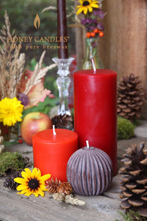 beeswax colored candles