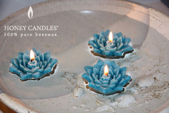 beeswax floating candles