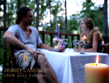 beeswax candles for outdoors