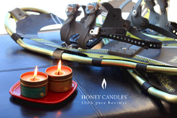 beeswax candles in tins