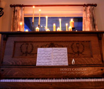Beeswax Candles Piano Tapers Pillars Scape