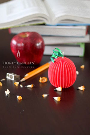 decorative beeswax candle