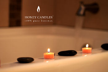 beeswax candles spa