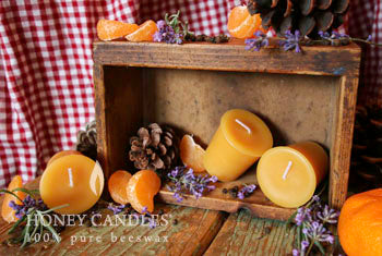 scented beeswax candles