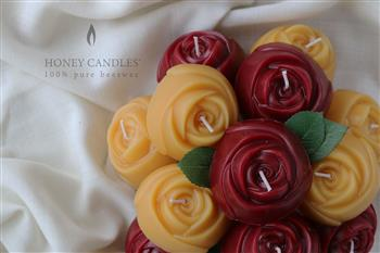 beeswax rose candle