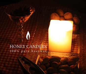 Beeswax Candle Square Pillar