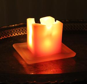 beeswax square pillar candles