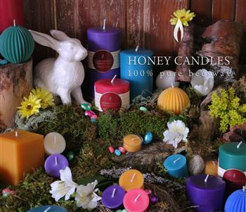 beeswax candles for Easter