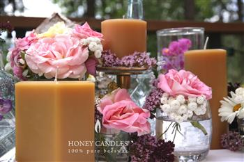 elegant beeswax candles