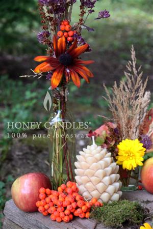 decorative beeswax candles