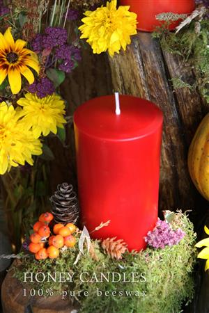 colored beeswax candles