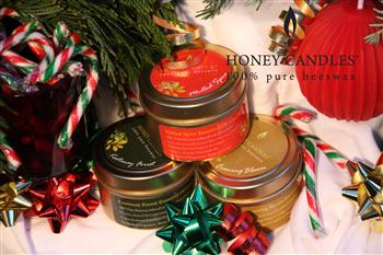 Made in Canada gifts beeswax candles