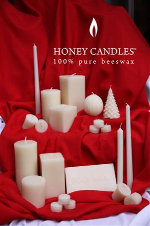 beeswax white candles