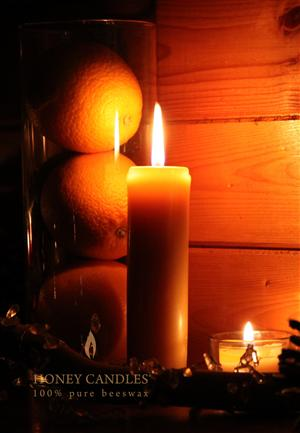 Canadian made beeswax candles