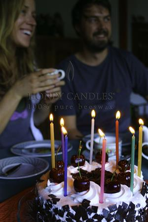 beeswax cake candles