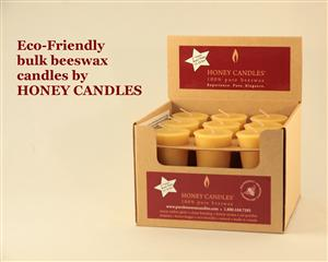 beeswax candles with environmentally friendly packaging