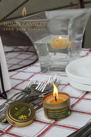 beeswax citronella candle