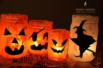 Halloween candle holders DIY