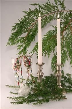 beeswax white taper candles