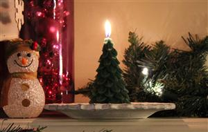 beeswax decorative christmas candle