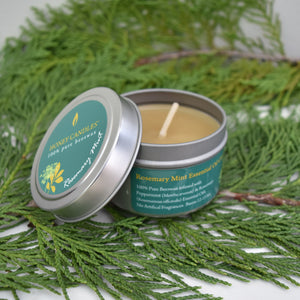 yellow beeswax infused with rosemary and mint for a immune building blend of essential oils