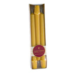 Elegant package of three 9 inch tall base  beeswax candles