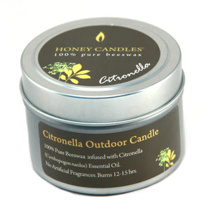 wonderful smelling citronella candle in a beautiful tin can