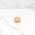 Natural Tealight in Clear Cup Beeswax Candles