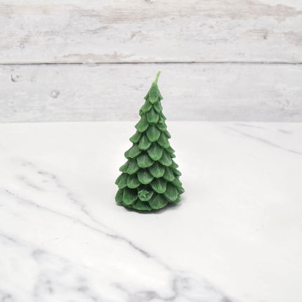 Yule Tree Forest Green Beeswax Candle