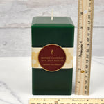 Forest Green Square Pillar Beeswax Candles