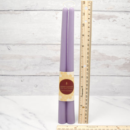 12 Inch Spring Crocus Taper Pair Beeswax Candles