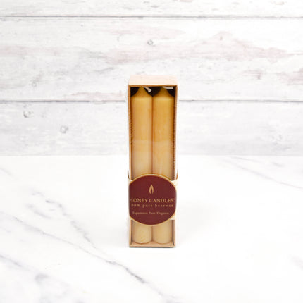 Pack of Four 6 Inch Tube Beeswax Candles