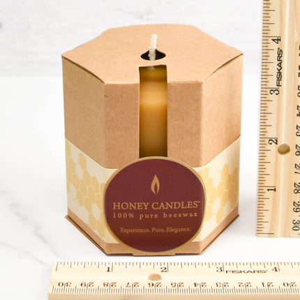 3 Inch Pillar Packaged Beeswax Candle