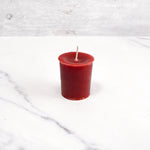 2 Inch Burgundy Votive Beeswax Candles