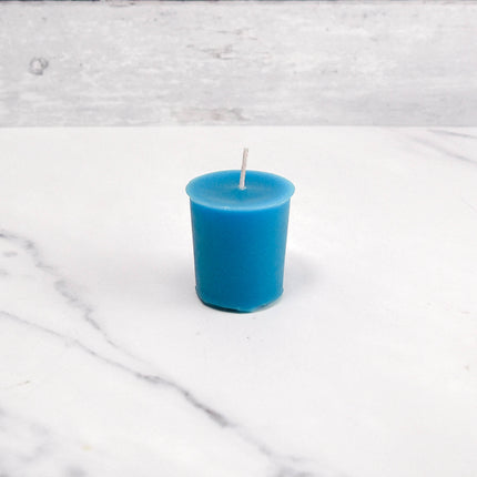 2 Inch Glacier Teal Votive Beeswax Candles